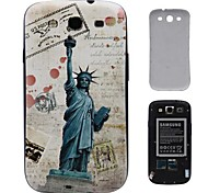 Retro Statue of Liberty Stamped PC Hard Battery Back Cover Housing for Samsung Galaxy S3 i9300