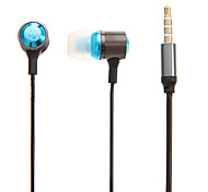 Metal Style In-Ear 3.5mm Earphone with Microphone Universal for Samsung&iPhone(S3/S4/S5/Note2/Note3/4S/5/5S)