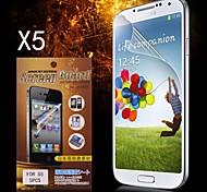 Protezione di schermo protettivo HD per Galaxy i9600 Samsung S5 (5PCS)