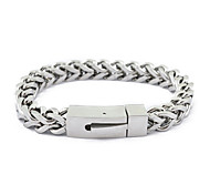 Punk Stainless Steel Box Chain Bracelet