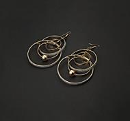 Weinlese-Hoop mit Hohlkugel Gold-Legierung Ohrringe (Gold, Silber) (1 Paar)