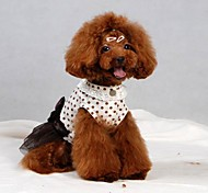 Summer Cotton Dresses for Dogs White XS / S / M / L / XL