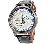 Men's Aviator Dial PU Band Quartz Wrist Watch (Assorted Colors)