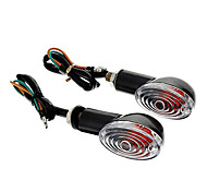 DIY Waterproof Turn Signals Yellow Light for Motorcycles Black(AC12-16V 8W 2-Piece)
