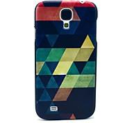 Bunte Puzzle-Diamant-Muster Kunststoff-Schutzhülle für Samsung Galaxy I9500 S4