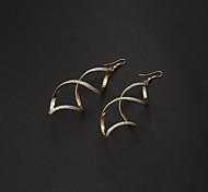 Weinlese-Wave-Form Gold-Legierung Ohrringe (Gold, Silber) (1 Paar)