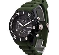 TIME100 Homens Moda Design legal Multifunction Moon Phase borracha de silicone do esporte relógio de quartzo