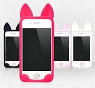 Cute Cat Silicon Soft Case for iPhone 4/4S(Assorted Colors)