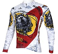 PaladinSport Men's Spring and Summer and Autumn Style 100% Polyester Long Sleeved Cycling Jersey