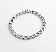 Fashion and Simple Silver 316L Stainless Steel Chain Cable  Bracelet