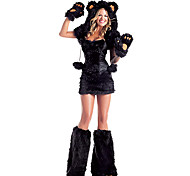 Cute Little Bear Black Fur Women's Halloween Party Costumefor Carnival