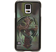 Dragon Around Crucifix 3D Changing Pattern Protective Plastic Hard Back Case Cover for Samsung Galaxy S5 I9600