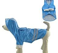 Alta calidad de cuero PU impermeable Gatos Perros impermeable con capucha