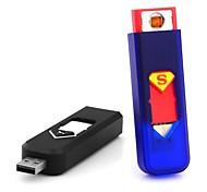 Superman USB sigaretta ricaricabile Mini senza fiamma accenditore elettronico può salire a bordo dell'aereo