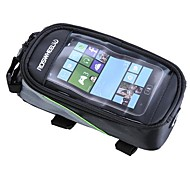 "Bike Bicycle Frame Front Tube Bag for Cell Phone 4.8"" PVC"