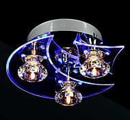 Lámpara LED de Cristal con 3 Luces y Diseño Moderno Minimalista