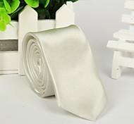 Moda Uomo Bianco Cravatta Solido