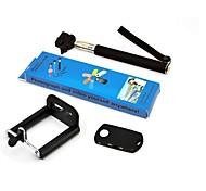Portátil de câmera monopé / Telefone Auto-protrait Holder e Shutter Bluetooth Remote para iPhone 5/4
