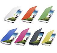 Solid Color Flip Cover Case for Samsung Galaxy S4 Mini I9190