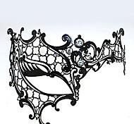 Маски Фестиваль / праздник Костюмы на Хэллоуин Черный Маски Хэллоуин Карнавал Универсальные Металл Искуственные драгоценные камни