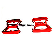 VEETOKA 1 Pair Aluminum Alloy 2 Bearings MTB/Road Bike Pedals - Red