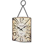 "14""H Antique Style Metal Wall Clock"