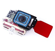 Gopro Accessories Lens Cap For Gopro Hero 3+ Aluminium Alloy / Glass Red