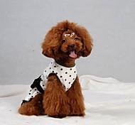 Pet estate bowknot Abito per Animali Cani (colori assortiti, taglie)