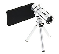 Zoom 12X Telephoto Metal Cellphone Lens with Tripod for iPhone 4S