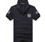 Men's Slim Casual Embroidery Polos