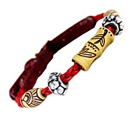 Dog Collar Red Genuine Leather