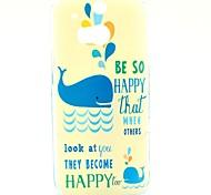 Glückliche Schwimmen Dolphin Muster Hülle für HTC One 2 M8