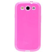 Pink-Jelly-TPU + Clear Schutzfolie + Pink Mini Stylus Pen für Samsung Galaxy S3 i9300