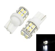 Merdia T10 3W 120LM 20x1206SMD LED for Car White Light License Plate Lamp / Reading Lamp(Pair/12V)