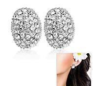 Fashionable Gift and Oval Pattern Earrings