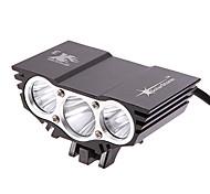 Luci bici (Ricaricabile 3 Modo 2500 Lumens 18650 CREE XM-L2 U2 Batteria - Multiuso