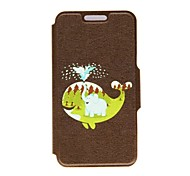 For Samsung Galaxy Case with Stand / Flip / Pattern Case Full Body Case Animal PU Leather Samsung S4