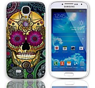 Petal Skull Design Hard Case with 3-Pack Screen Protectors for Samsung Galaxy S4 mini I9190
