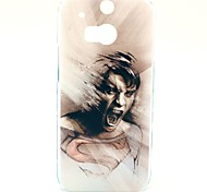 Crazy Man Pattern Hard Case for HTC One 2 M8