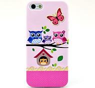 El patrón de la caja suave Búhos Familia para el iPhone 5/5S