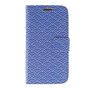 Kinston Blue Beads Fan Pattern PU Leather  Full Body Case with Stand for Samsung S4 I9500