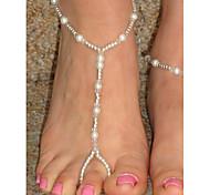 Shixin® Fashion Handmade Crystal Pearl Barefoot Sandal(1 Pc)