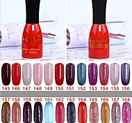 1 Bottle Soak-off Lack UV Colorful Gel Polish No.145-168 (15ml,Assorted Colors)