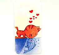 Eat Swimming Cat Pattern Plastic Hard Case for Motorala Moto G