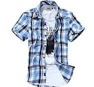 Casual Camicia con colletto stand Uomo