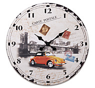 "23""H Retro Style Wood Wall Clock"