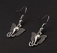 Cute Elephant Silver Alloy Earrings(1 Pair)