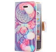 Dream Catcher Style Flip Leather Case with Stand and Card Slot for iPhone 4/4S
