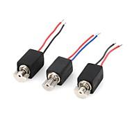 DIY  D12080408  Mini Electric Motors Set - Black (3 PCS)