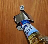 Silver Wall-Mounted Metal Beer Bottle Opener